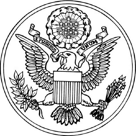 Great Seal Of The United States Coloring Page the great seal of the united states coloring