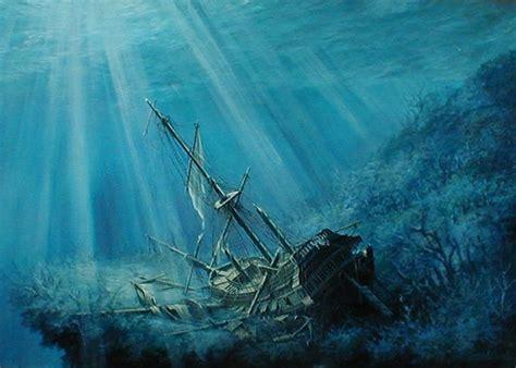 boat underwater drawing sunken ship google search ships boats pinterest