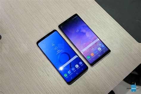samsung galaxy s9 vs samsung galaxy note 8 look