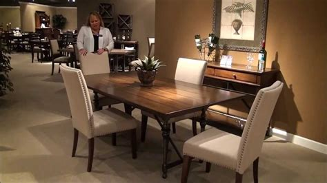 5 park rectangular trestle dining room set by
