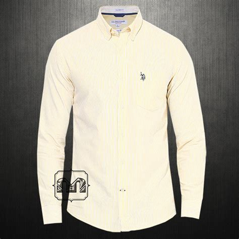 Kaos Polos Oblong Pocket Tees With Stripe Original Kh15 us polo assn uspa yellow striped button classic shirt with us polo chest embroidery on