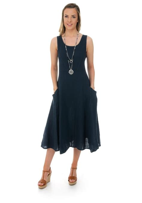 Linen A Line Maxi Dress luca vanucci linen a line maxi dress navy stylin