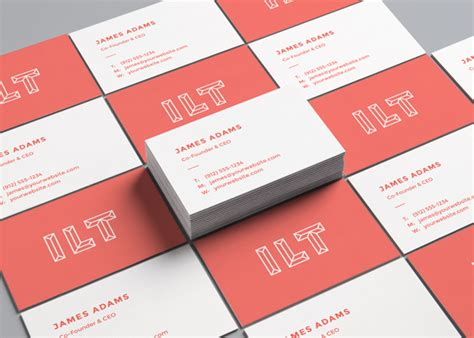 card free perspective business card free mockup engine templates
