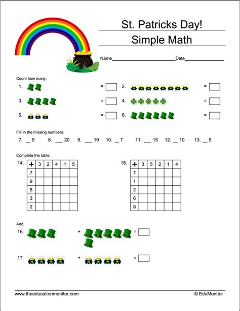 Day Grade Worksheets by Worksheets For Teachers St S Day Printables
