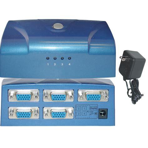 Switch Vga electronic vga switch box 4 pc to 1 monitor vga hd15
