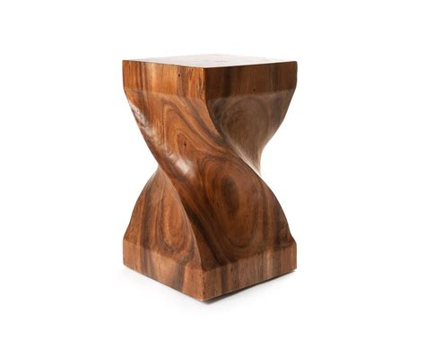Wood Side Table Suar Wood Side Table Sculptured Wooden Stool