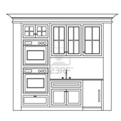 Kitchen Drawings by Kitchen Cabinet Design Drawing Kitchen Elevation Line