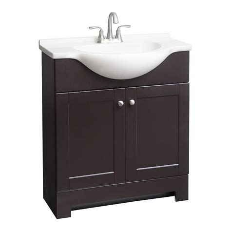 euro style bathroom vanity shop style selections euro espresso integral single sink