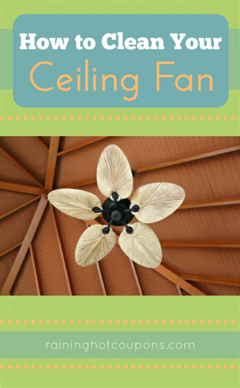 how to easily clean your ceiling fan