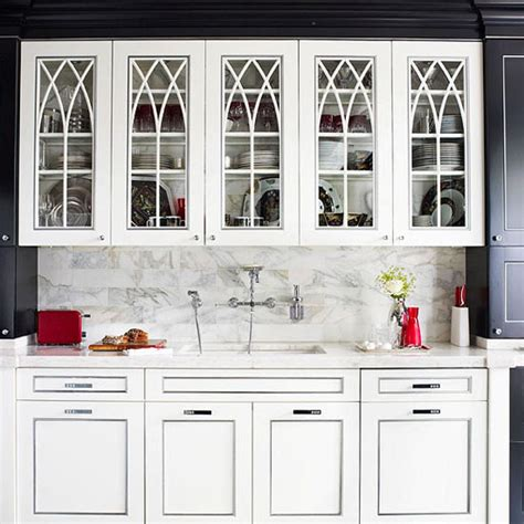 Replacement Kitchen Cabinet Doors Glass Front Distinctive Kitchen Cabinets With Glass Front Doors Traditional Home