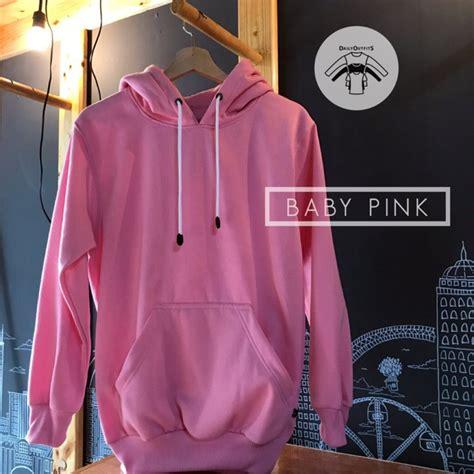 jaket sweater polos hoodie jumper pink baby premium