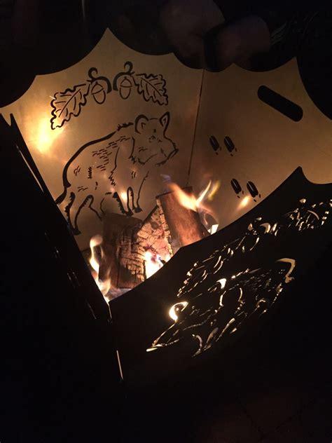 Feuerkorb Feuerschale by Feuerkorb Feuerschale Versch Motive Mit Eichenlaub Aus
