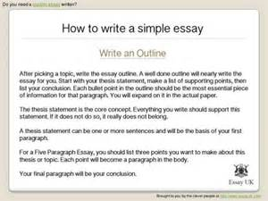 Writing A How To Essay by How To Write A Simple Essay Essay Writing Help