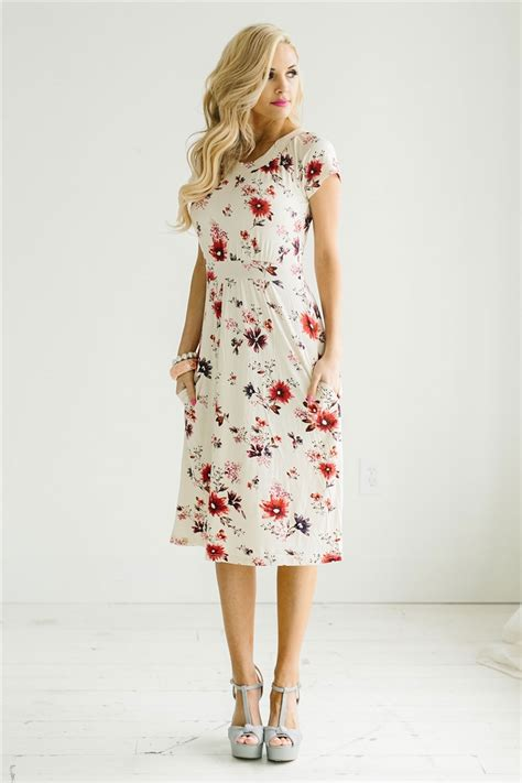 Modest Dresses by Pink Floral Modest Dress By Mikarose Modest