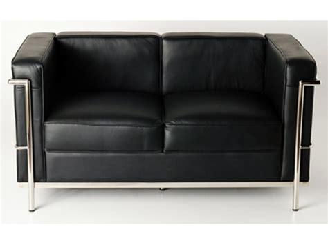 lc2 sessel reproduktion lc2 2 sitzer le corbusier in schwarz als reproduktion