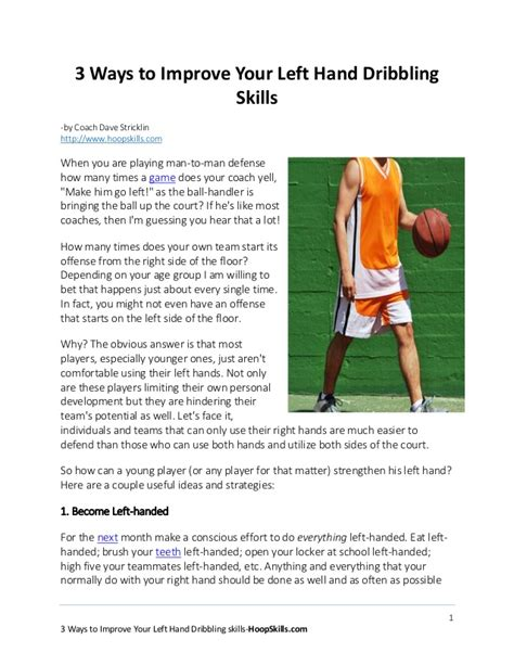 3 ways to improve your left basketball dribbling skills