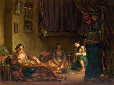 femmes dalger dans leur 2253068217 eug 232 ne delacroix femmes d alger dans leur appartement 1849 eug 232 ne delacroix art