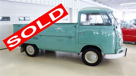 vw truck 1966 vw volkswagen pickup truck stock 084036 for sale