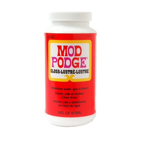Msc Decoupage Glue - mod podge 174 gloss 16 oz cs11202 plaid