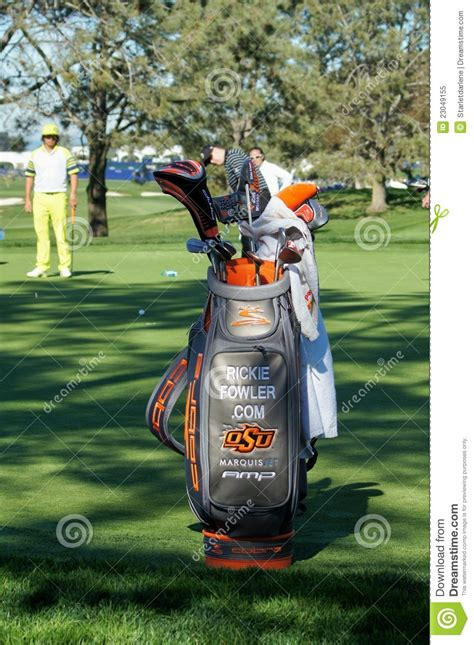 rickie fowler golf bag editorial image image 23049155