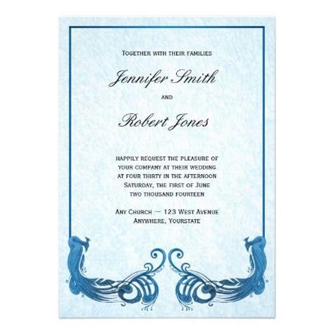 Wedding Invitation Border Designs Royal Blue by Royal Blue Vintage Peacock Wedding Invitation Beautiful