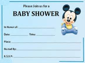 Free Mickey Mouse Baby Shower Invitation Templates by Mickey Mouse Baby Shower Invitation Free Template