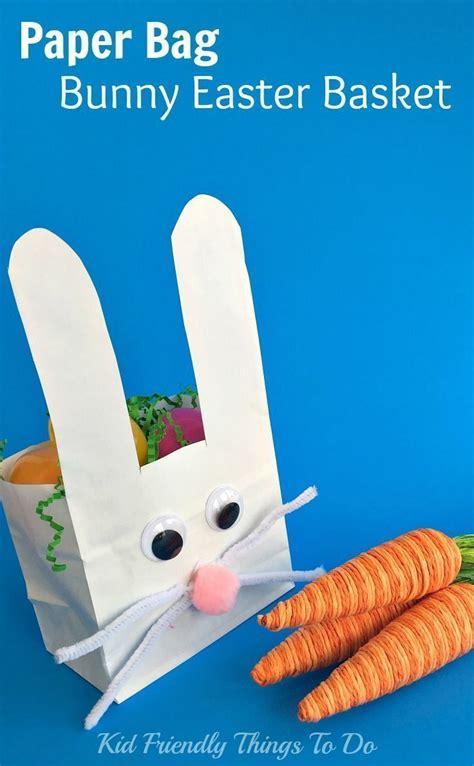 easter paper bag pattern paper bag bunny easter basket craft for kids crafts kid