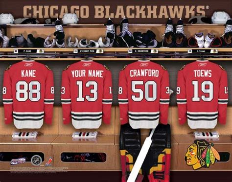 chicago blackhawks locker room chicago blackhawks nhl locker room print blackhawks nhl locker 45 00 personalization king