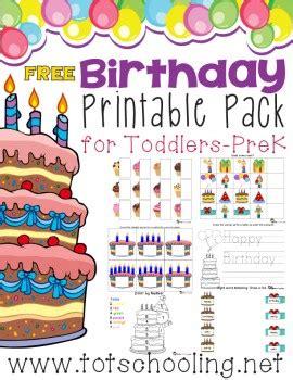 birthday themed lesson plans free birthday printable pack for prek k free homeschool