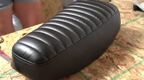 motorcycle seat upholstery material how to make a pleated seat cover for a motorcycle youtube