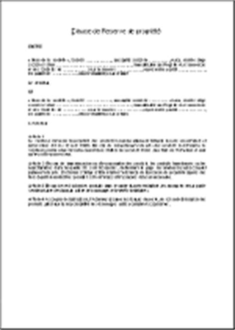 Clause de réserve de propriété