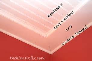 How To Install Wainscoting Bathroom How To Install A Beadboard Paneled Ceiling The Kim Six Fix