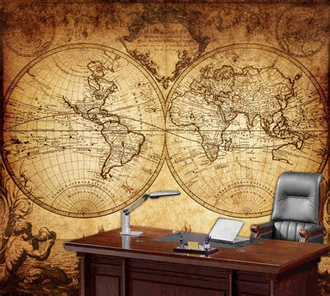 world wall mural world map wall mural vintage map of the world 1733
