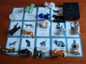 The Curio Cabinet Cats Collection Curio Cabinet Cats Collection Franklin Mint No Reserve