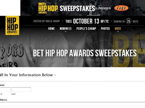 Bet Sweepstakes - bet big hip hop awards sweepstakes