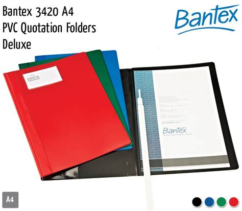 Bantex Pp Pocket 8040 A4 Clear 20 Sheets Pack 1 Pack folders plastic