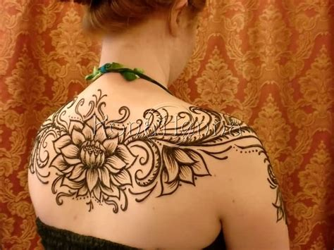henna tattoo upper back 33 best henna lotus tattoos designs