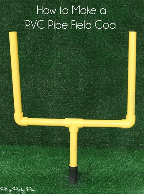 how to make a football field in your backyard diy field goal post party contributor sugar bee crafts
