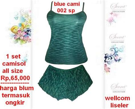 Camisol Set Blue Biru Import import collection stelan camisol by secret possessions