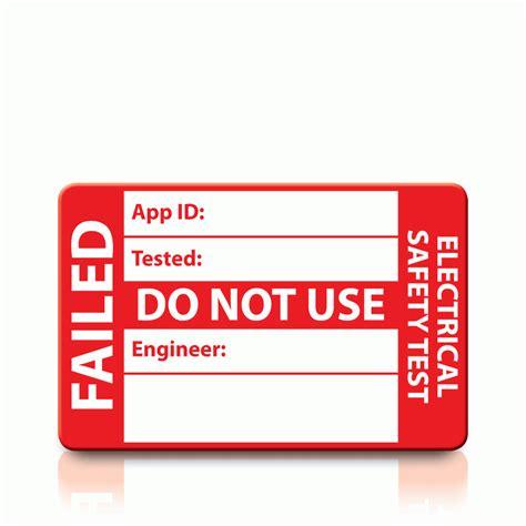 Pat Testing Labels Template