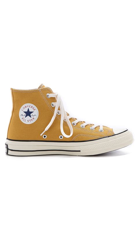 converse all high top sneakers lyst converse all 70s high top sneakers in yellow