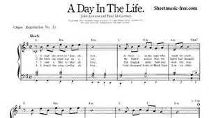 Day in the life sheet music beatles piano sheet music free pdf