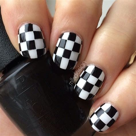 black and white pattern nails 15 easy black and white nail designs for beginners