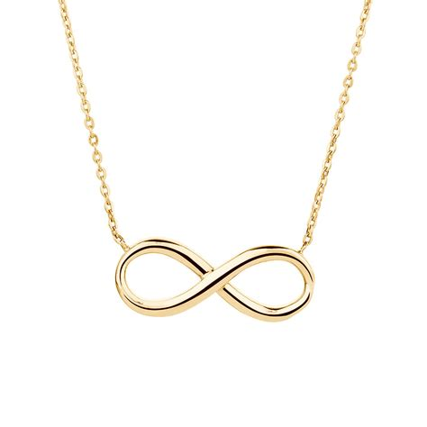 Gold Necklace infinity necklace in 10kt yellow gold