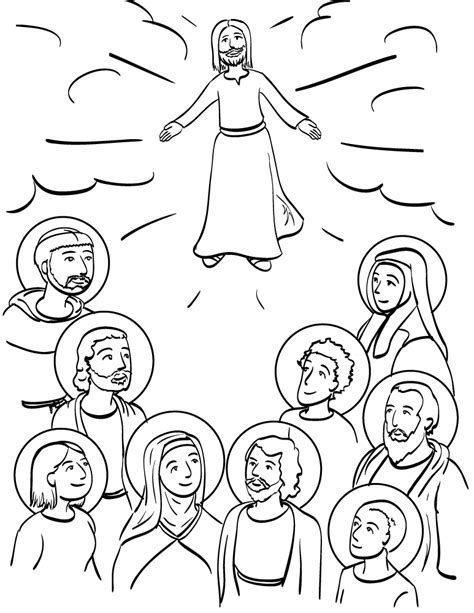 All Saints Day Coloring Pages Az Coloring Pages Coloring Pages Of Saints