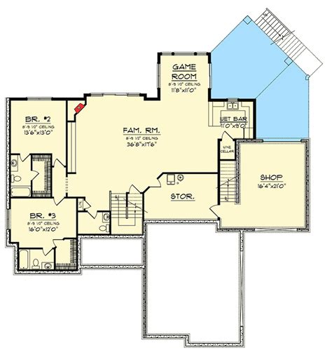 ranch house plans with walkout basement basement details craftsman ranch with walkout basement 89899ah 1st