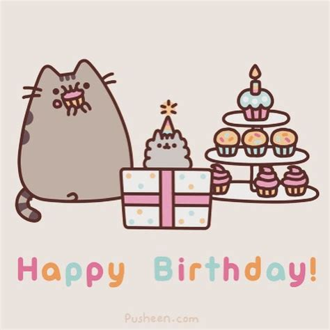 Happy Birthday Meme Tumblr - 25 best ideas about pusheen happy birthday on pinterest