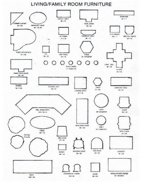 Printable Room Plan Furniture Templates Living Room Furniture Templates