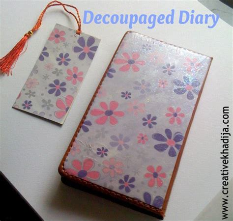 tutorial decoupage papel decoupage diary cover