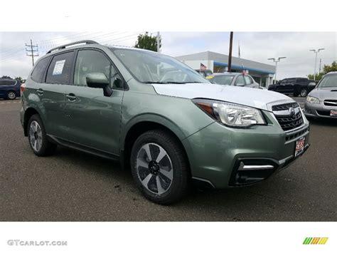 green subaru forester 2017 2017 green metallic subaru forester 2 5i premium